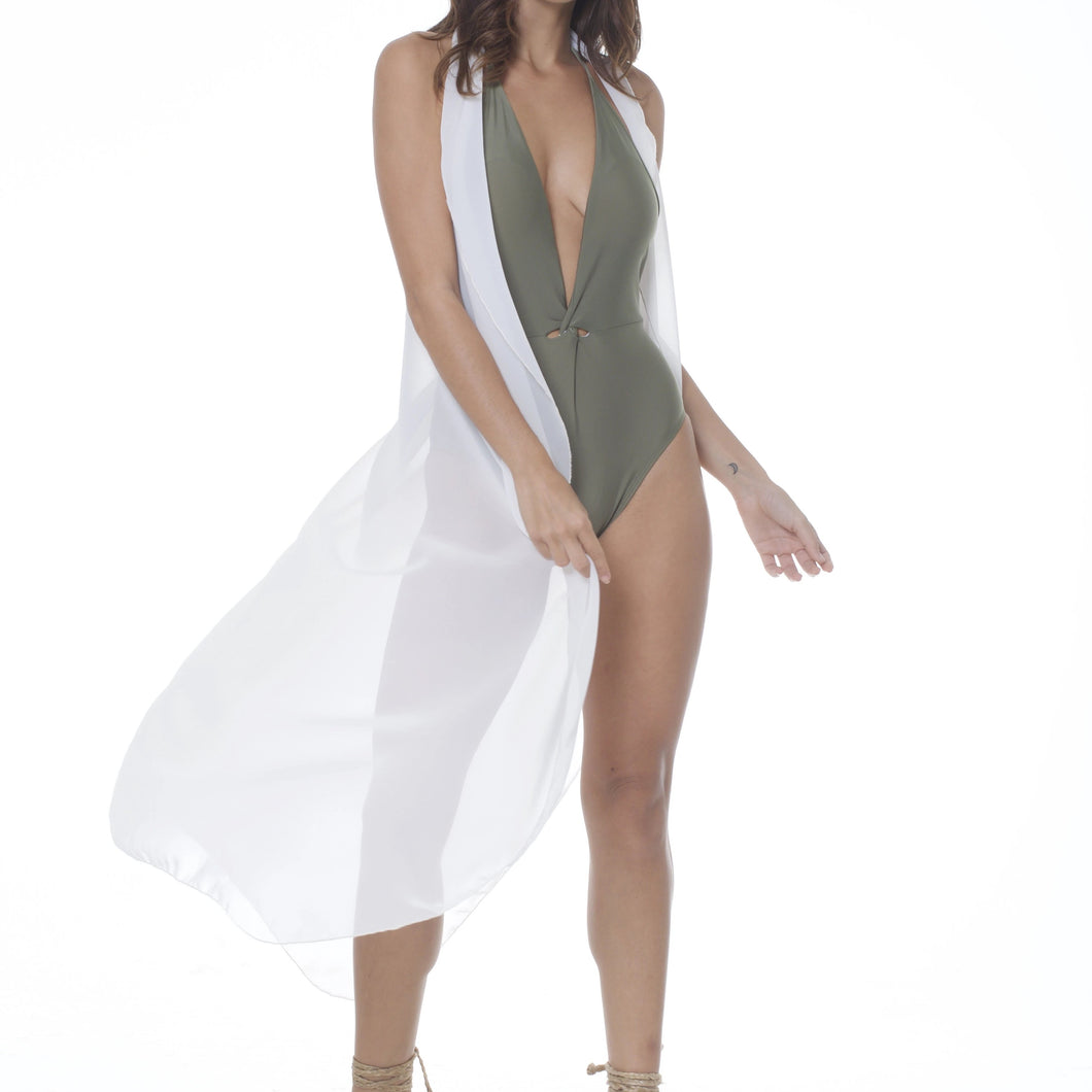 COVER UP FEARLESS LONG HALTER DRESS