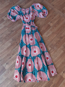 MOROWA MAXI LONG DRESS WITH BALLOON SLEEVES