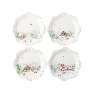 North Pole Dessrt Plates set of 4 by Juliska