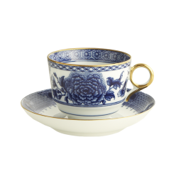 Mottahedeh Imperial Blue Cup and Saucer