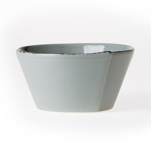 Vietri Lastra Stacking Bowl in Gray