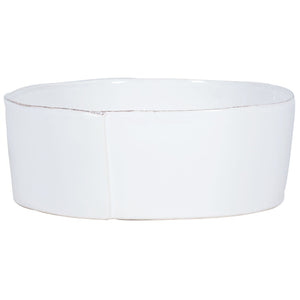 Vietri Lastra Large Serving Bowl in White