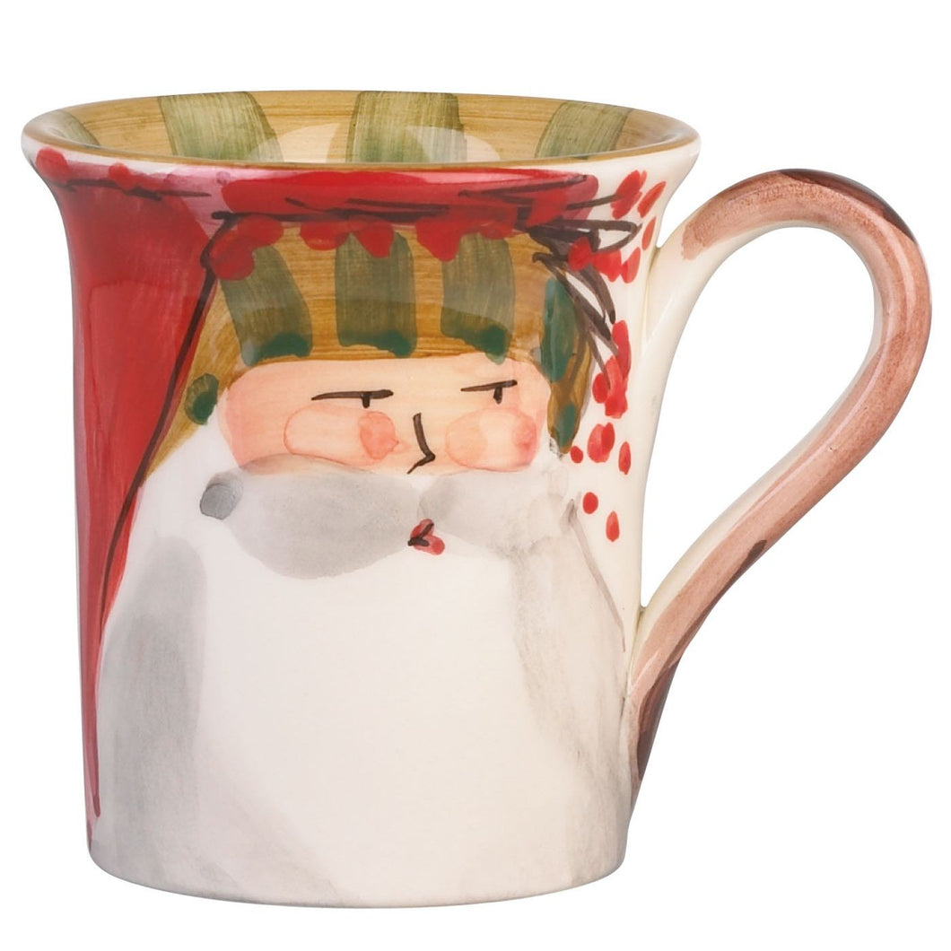 Vietri Old St. Nick Stripe Hat Mug