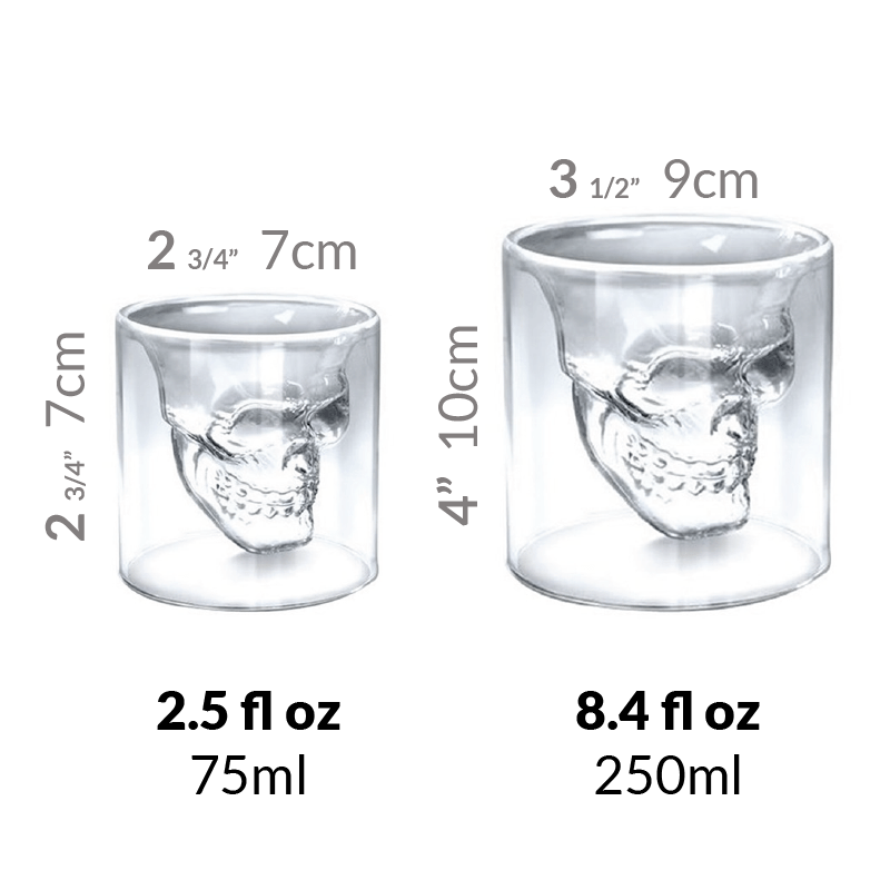 Apocolypse™ Skull Whiskey/Wine Glass
