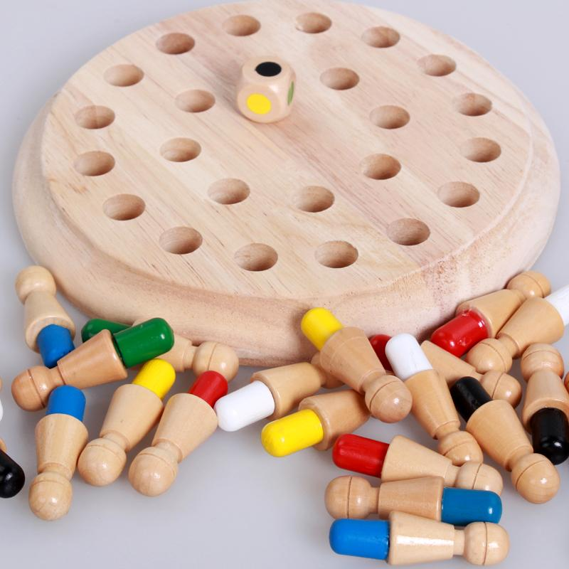Wooden Memory Match Stick Chess Game
