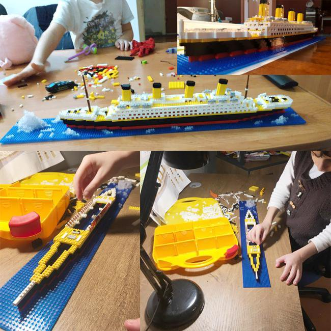 DIY Lego Building Blocks Titanic Model