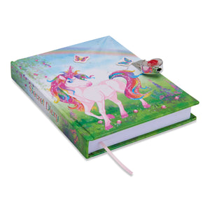 Magical Unicorn Secret Diary (with Padlock & Key)