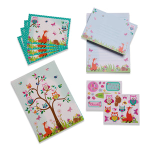 Woodland Animals Writing Set - Folder and Contents - Lucy Locket