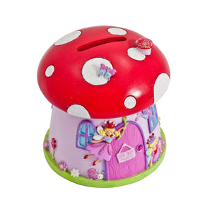 Toadstool 'Fairy House' Money Box - Money Slot - Lucy Locket