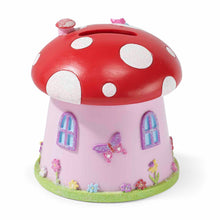 Toadstool 'Fairy House' Money Box - Back - Lucy Locket