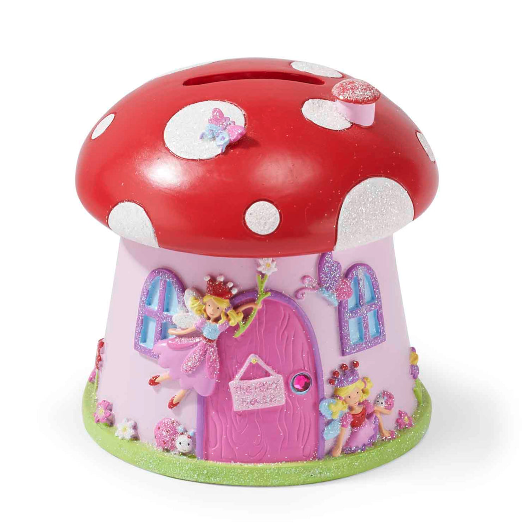 Toadstool 'Fairy House' Money Box - Lucy Locket