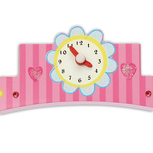 Enchanted Castle Wooden Puppet Theatre Set - Clock - Lucy Locket