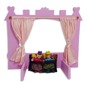 Enchanted Castle Wooden Puppet Theatre Set - Back - Lucy Locket