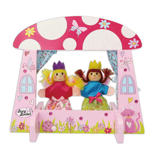 Fairy Tale Mini Wooden Puppet Theatre - Lucy Locket