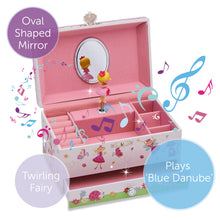 Enchanted Fairy Musical Jewellery Box - Main Image - Lucy Locket - Infographic 1