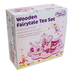 Fairy Tale Wooden Tea Set & Cakes Toy - Box - Lucy Locket
