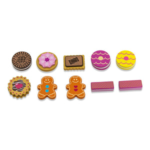 Wooden Biscuit Tea Party Counting Game - Biscuits - Lucy Locket