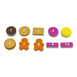 Wooden Biscuit Tea Party Counting Game - Numbers - Lucy Locket