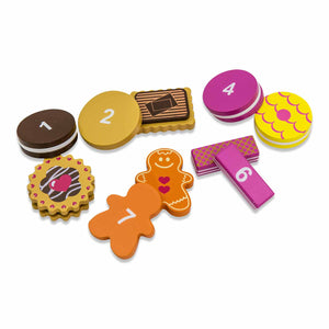 Wooden Biscuit Tea Party Counting Game - Biscuits & Numbers - Lucy Locket