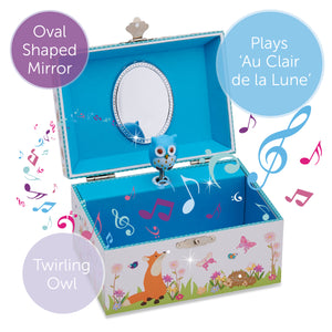 Woodland Musical Jewellery Box - Lucy Locket - Infographic 1
