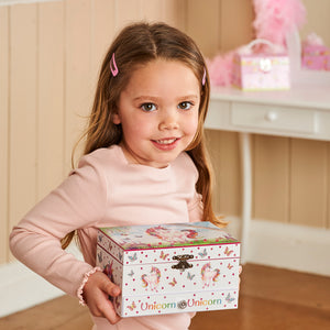 Magical Unicorn Musical Jewellery Box - Being Carried by Child - Lucy Locket