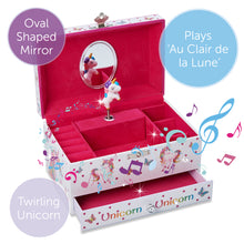 Magical Unicorn Musical Jewellery Box - Main Image - Lucy Locket - Infographic 1
