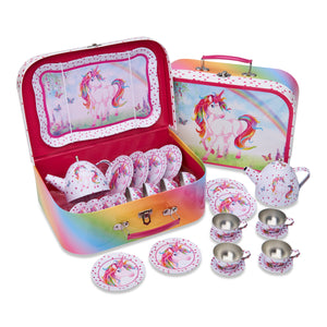Unicorn tea set and carry case - Lucy Locket