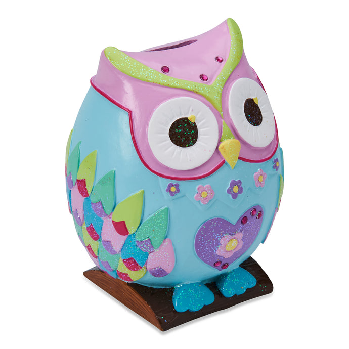 Woodland Owl Money Box - Front - Wobbly Jelly
