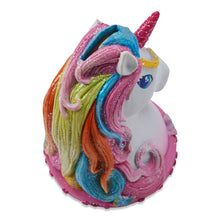 Unicorn Money Box - Back view - Wobbly Jelly