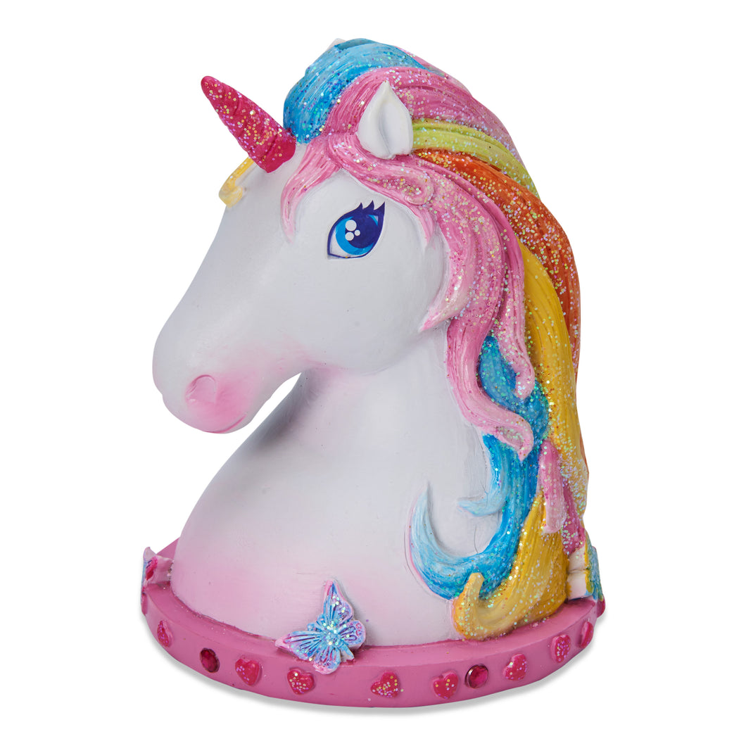 Unicorn Money Box - Front - Wobbly Jelly