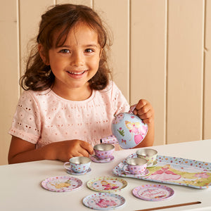 Princess Metal Tea Set Toy - Lifestyle with Child - Lucy Locket