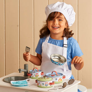 'Woodland Animals' Pots and Pans Kitchen Set