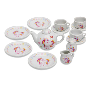 Magical Unicorn China Tea Set & Picnic Basket - China Contents - Wobbly Jelly
