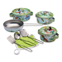 'Stomping Dinosaur' Pots and Pans Kitchen Set - Wobbly Jelly