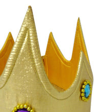 Gold Jewel King Fancy Dress Crown - Detail - Slimy Toad