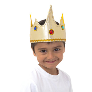 Gold Jewel King Fancy Dress Crown - Slimy Toad