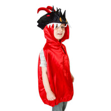 Red & Black Dragon Fancy Dress Costume - Front - Slimy Toad
