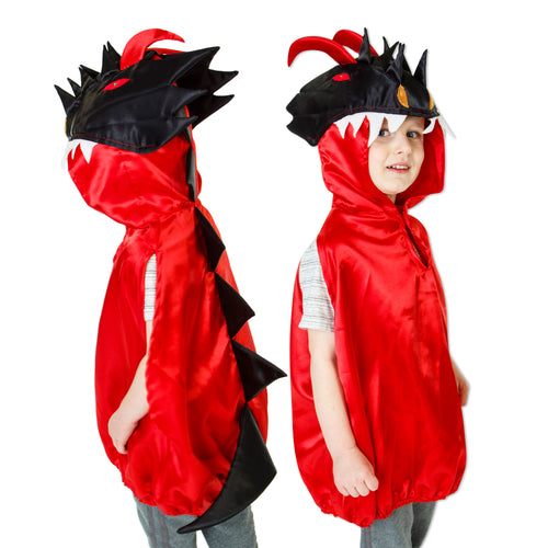 Red & Black Dragon Fancy Dress Costume - Slimy Toad
