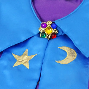 Wizard Coat Fancy Dress Costume - Fastening Detail - Slimy Toad