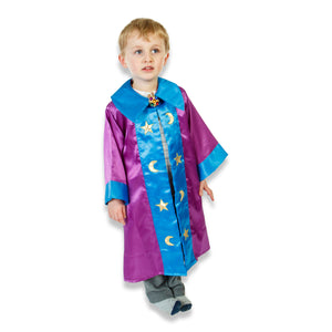 Wizard Coat Fancy Dress Costume - Front - Slimy Toad