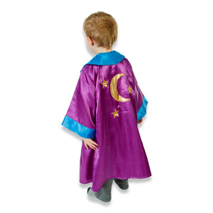 Wizard Coat Fancy Dress Costume - Back View - Slimy Toad