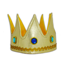 King Cape & Crown Fancy Dress Costume - Crown Front - Slimy Toad