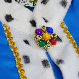 King Cape & Crown Fancy Dress Costume - Jewel Detail - Slimy Toad