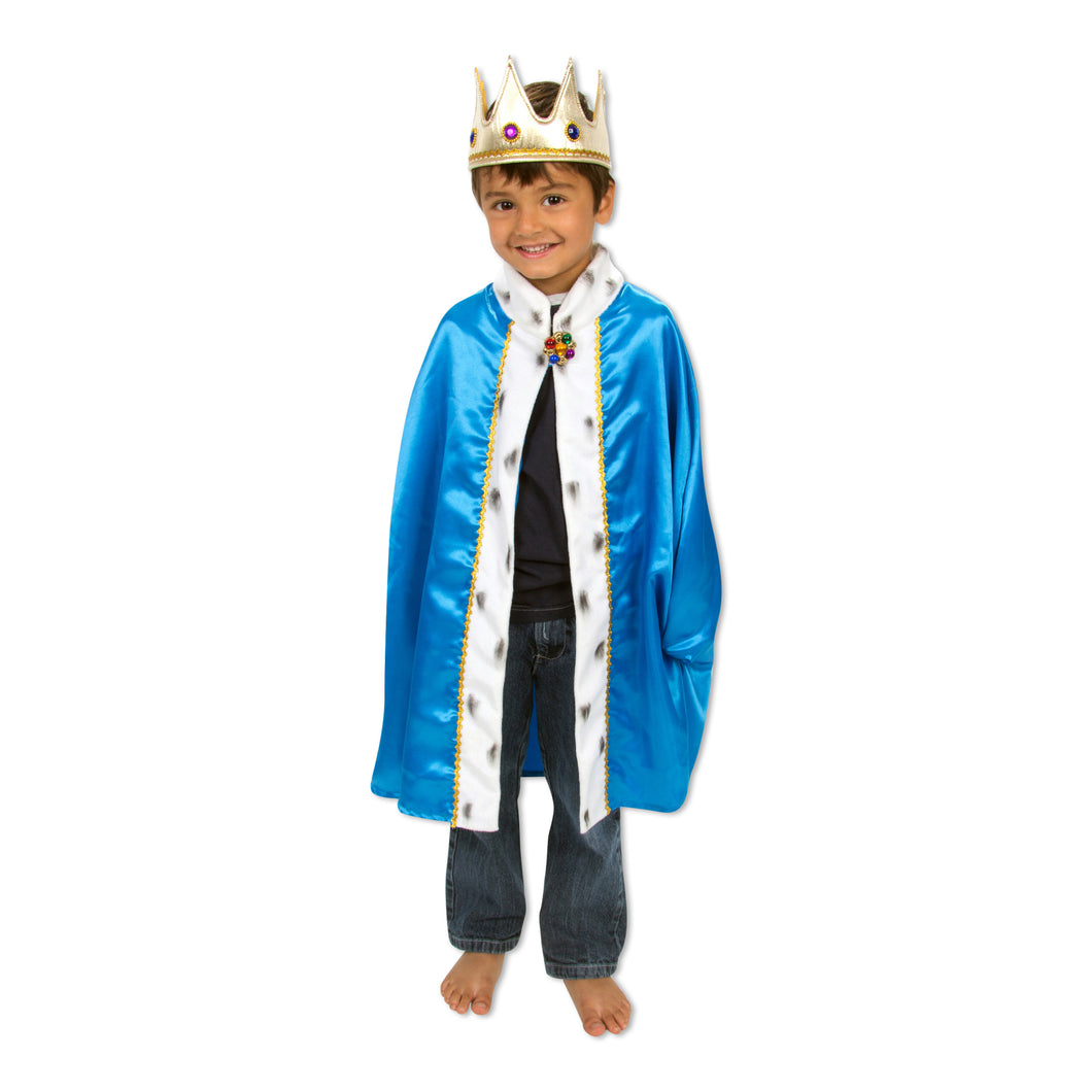King Cape & Crown Fancy Dress Costume - Slimy Toad