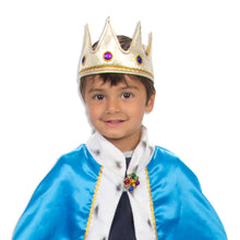 King Cape & Crown Fancy Dress Costume - Detail - Slimy Toad