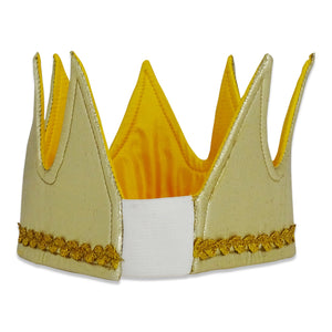 King Cape & Crown Fancy Dress Costume - Crown Back - Slimy Toad