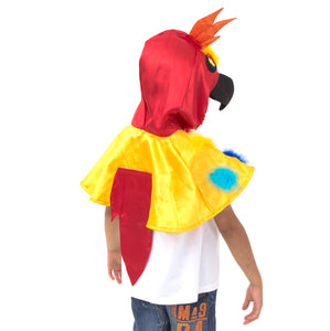 Parrot Fancy Dress Costume - Back View - Slimy Toad