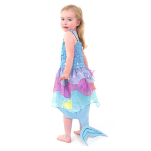 Tropical Mermaid Fancy Dress Costume - Back - Lucy Locket