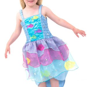 Tropical Mermaid Fancy Dress Costume - Bodice Detail - Lucy Locket