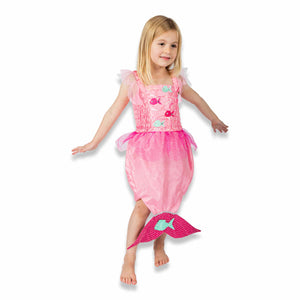 Pink Mermaid Fancy Dress Costume - Front - Lucy Locket